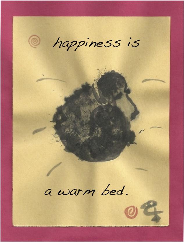 happy warm bed poodle