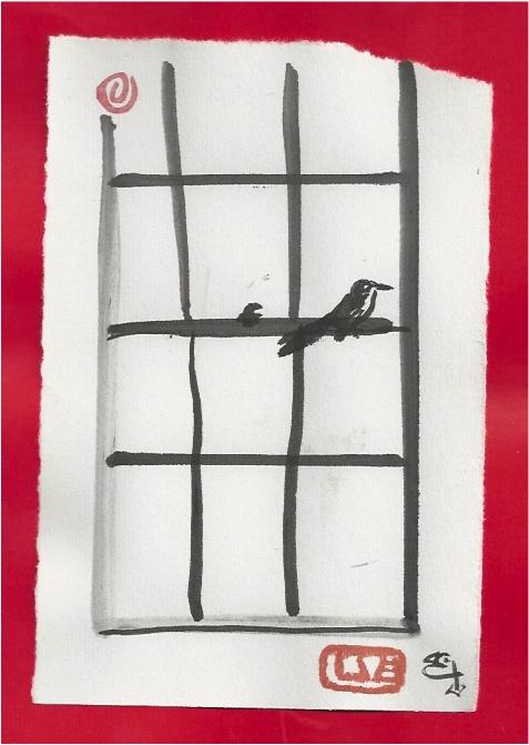 window bird right