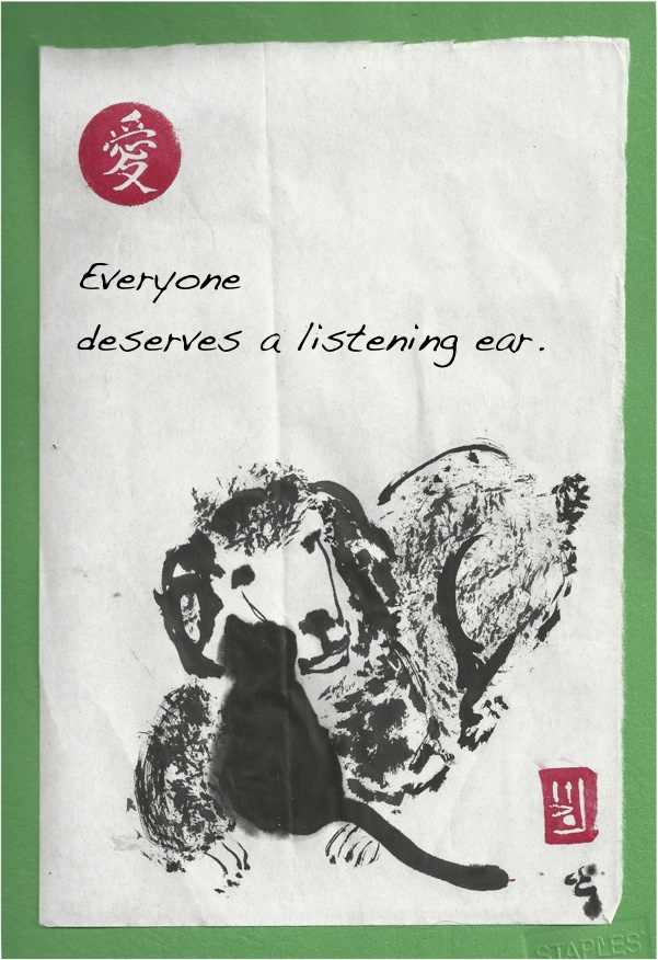 listening poodle ear