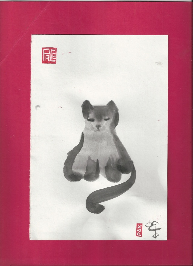 zen cat thin red border