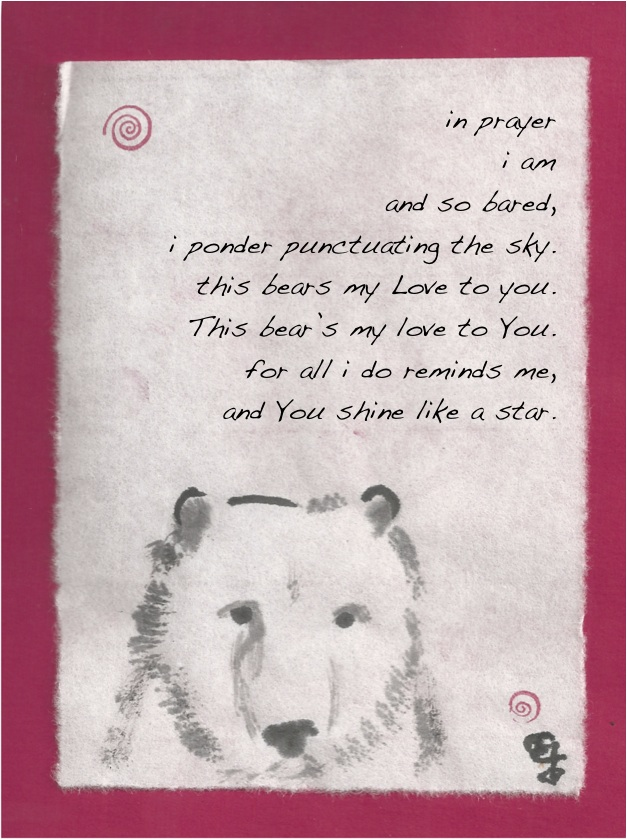 bared bear with love