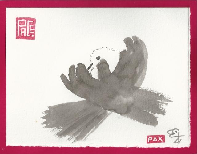 bird in garden gloves