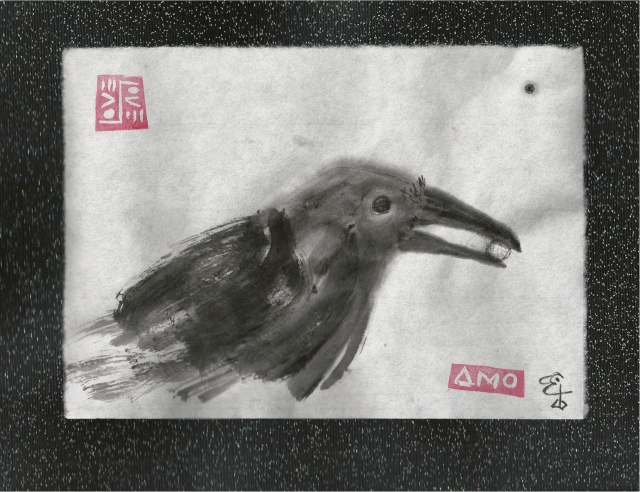 crow with pearl 2