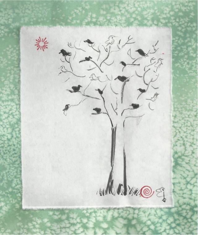 tree of many little birds