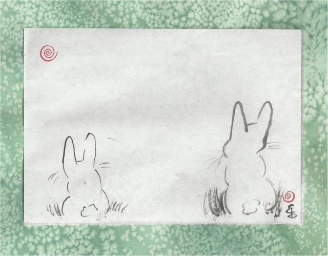 two bunnies waiting