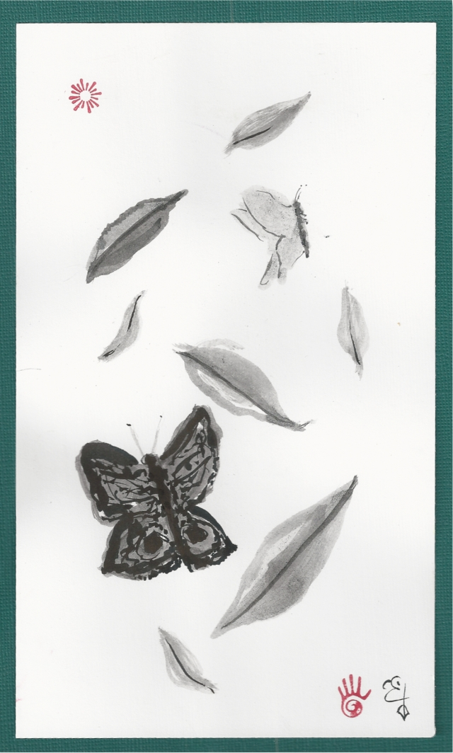 butterflies and falling leaves