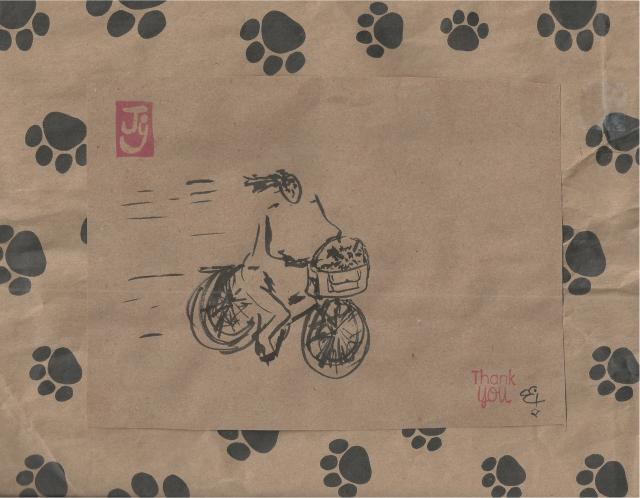 girl toy dog bicycle