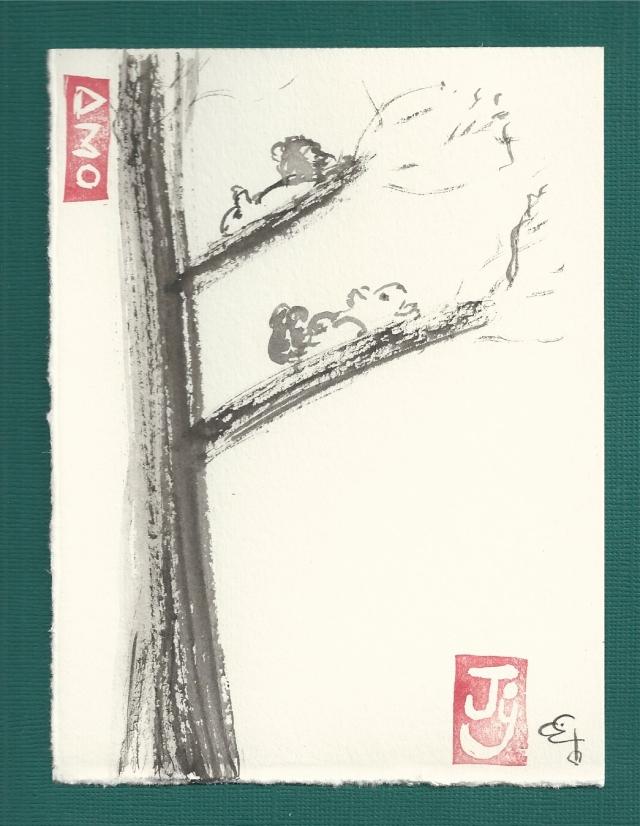 two squirrels on a fehu tree