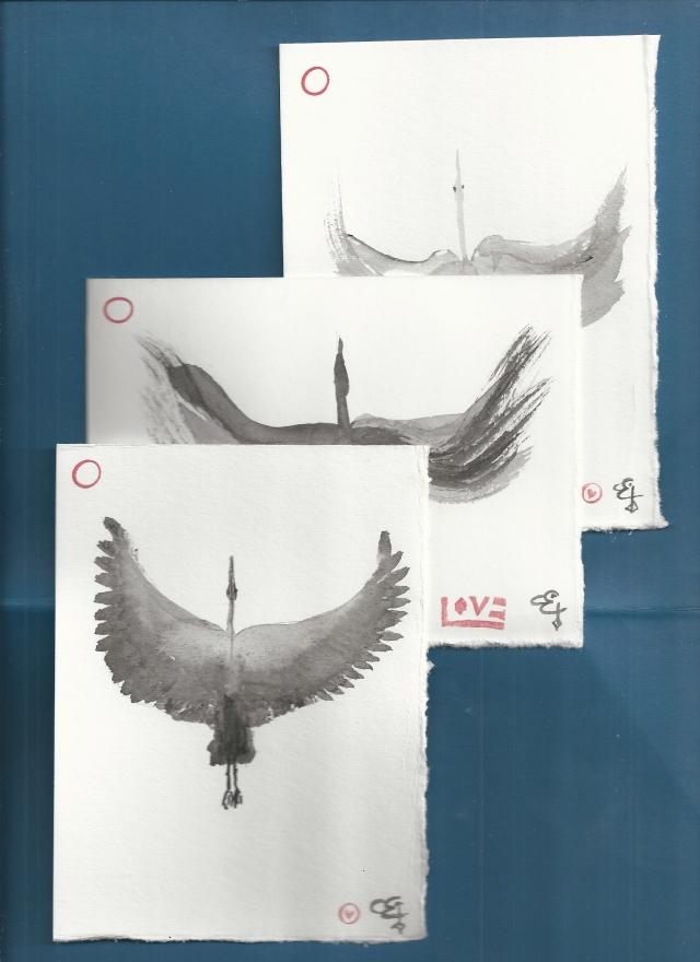 3 cranes one flight different flight plans