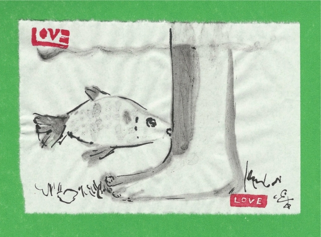 fish nibbling leg