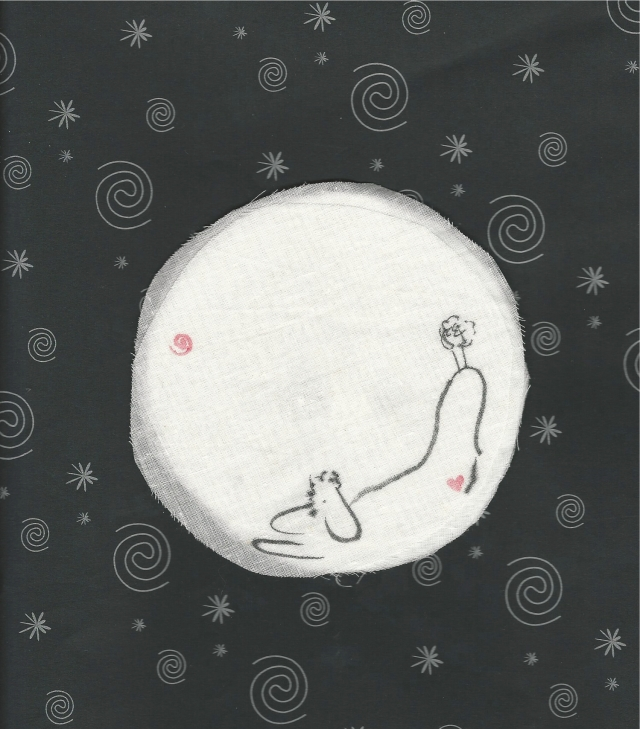 poodle in the moon