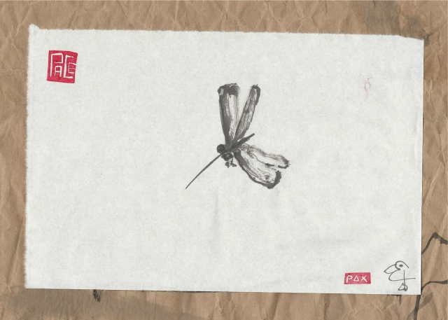 mosquito-on-brown-paper