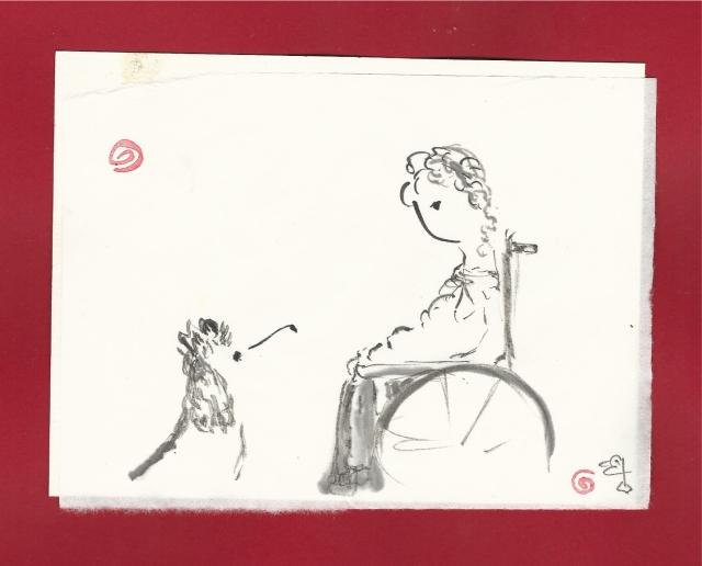 woman-dog-wheelchair