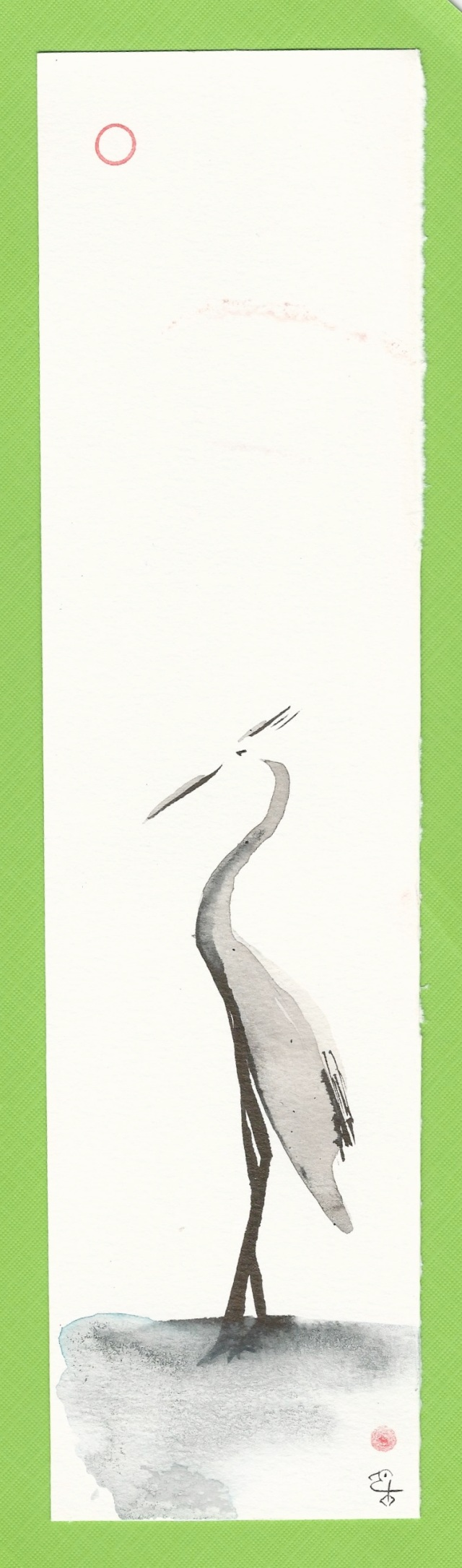 crane in water green